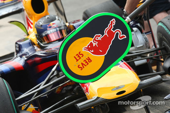 Sebastian Vettel, Red Bull Racing, lollipop