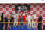 GT2 podium: class winners Toni Vilander and Gianmaria Bruni, second place Sean Edwards and Marco Holzer, third place Frdric Makowiecki and Stefan Mcke