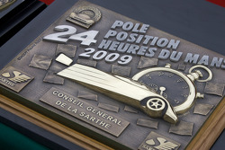 Trophy for the Le Mans 2009 pole position from Conseil GeÃÅneÃÅral de la Sarthe