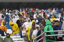 Fans watch Joey Logano win due to rain