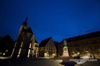 Stuttgart by night: Schillerplatz