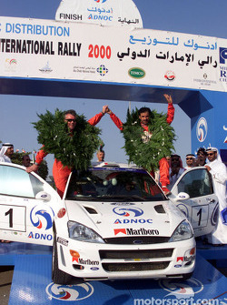 Rally winners Mohamed Ben Sulayem and co-driver Ronan Morgan