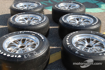 Firestone Firehawk tires ready to go