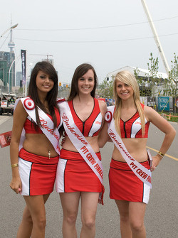 Lovely Budweiser pit crew finalists