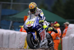 Valentino Rossi, Fiat Yamaha Team in the gravel