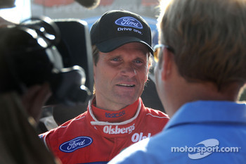 Marcus Gronholm gives an interview prior to the race