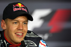 Post-qualifying press conference: second place Sebastian Vettel, Red Bull Racing