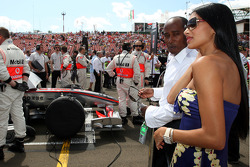 Nicole Scherzinger, Singer in the Pussycat Dolls and girlfriend of Lewis Hamilton, McLaren Mercedes and Anthony Hamilton