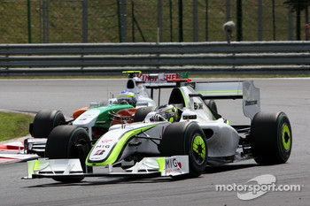 Jenson Button, BrawnGP, Giancarlo Fisichella, Force India F1 Team