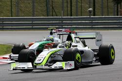 Jenson Button, BrawnGP, Giancarlo Fisichella, Force India F1 Team