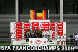 Podium: race winners Mike Hezemans, Anthony Kumpen, Jos Menten, Kurt Mollekens, second place Alessandro Pier Guidi, Stéphane Lemeret, Carl Rosenblad and Vincent Vosse, third place Marcel Fässler, Henri Moser, Alexandros Margaritis and Marc Basseng