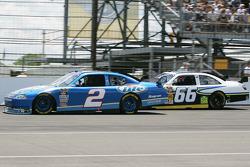 Kurt Busch, Penske Racing Dodge and Dave Blaney PRISM Motorsports Toyota