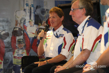 Malcolm Wilson announced Ford's driver line up for the next two years at a press conference