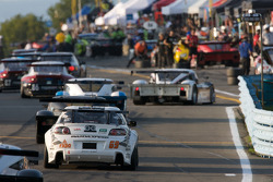 #69 SpeedSource Mazda RX-8: Emil Assentato, Jeff Segal enters pitlane