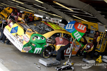Joe Gibbs Racing Toyota crew members at work