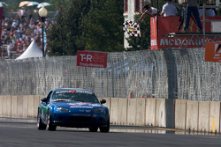 #146 Freedom Autosport Mazda MX-5: Andrew Carbonell, Rhett O'Doski takes the checkered flag