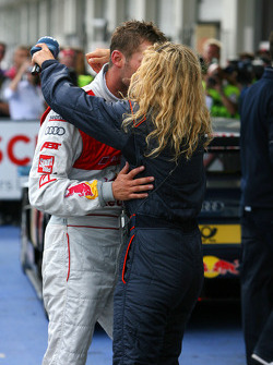 Race winner Martin Tomczyk, Audi Sport Team Abt Audi A4 DTM  celebrates with his girlfriend Christina Surer