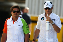 Giancarlo Fisichella, Force India F1 Team, Robert Kubica, BMW Sauber F1 Team
