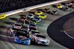 Carl Edwards and Kevin Harvick leads the field