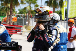 Sebastian Vettel, Red Bull Racing, stops on track