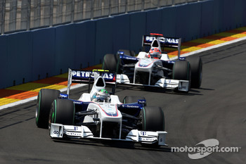 Nick Heidfeld, BMW Sauber F1 Team, Robert Kubica, BMW Sauber F1 Team