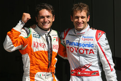 Giancarlo Fisichella, Force India F1 Team and Jarno Trulli, Toyota F1 Team