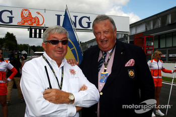 Right, Roland Bruynseraede, DTM Race Director, left, Yves Bacquelaine FIA Steward