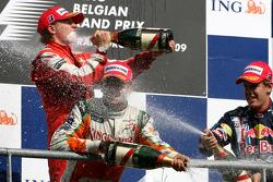 Giancarlo Fisichella, Force India F1 Team, Kimi Raikkonen, Scuderia Ferrari, Sebastian Vettel, Red Bull Racing