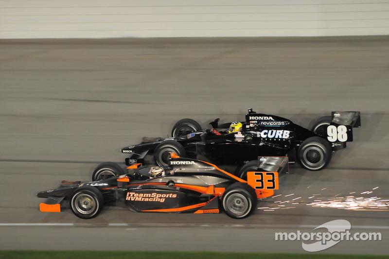 Robert Doornbos, HVM Racing and Jacques Lazier, CURB/Agajanian/3G