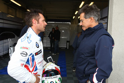 Andy Priaulx, BMW Team UK, BMW 320si and Dr. Mario Theissen, BMW Sauber F1 Team, BMW Motorsport Director