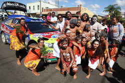 Jari-Matti Latvala's Ford Focus RS WRC was the centre of attention as the WRC crews visited Kyogle for remote service
