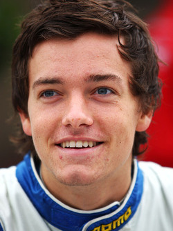 Jolyon Palmer during the F2 driver autograph session