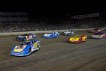 David Reutimann, driver of the #00 leads a pack of cars