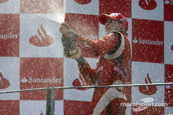 Nico Hulkenberg celebrates winning the 2009 GP2 Series championship on the podium