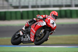 Michael Schumacher, Test Driver, Scuderia Ferrari, tests a superbike