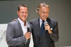 Michael Schumacher, Test Driver, Scuderia Ferrari with Luca di Montezemolo, Scuderia Ferrari, FIAT Chairman and President of Ferrari