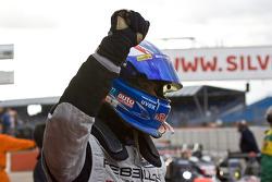 Second place Marcel Fassler celebrates