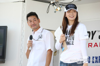 Roger Yasukawa, Dreyer & Reinbold Racing, guest during a talk show