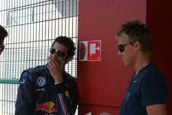 Daniel Ricciardo and Max Chilton