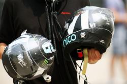 Helmets of Nico Rosberg, Mercedes AMG F1 Team