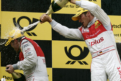 Podium: race winner Timo Scheider, Audi Sport Team Abt, second place Tom Kristensen, Audi Sport Team Abt