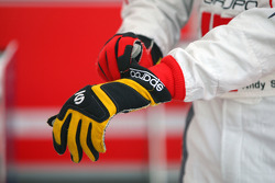 The gloves of Andy Soucek