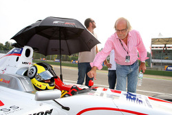 Andy Soucek on the grid with his Father Dieter