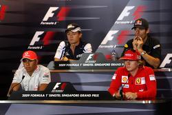 Lewis Hamilton, McLaren Mercedes, Nico Rosberg, WilliamsF1 Team, Kimi Raikkonen, Scuderia Ferrari, Mark Webber, Red Bull Racing