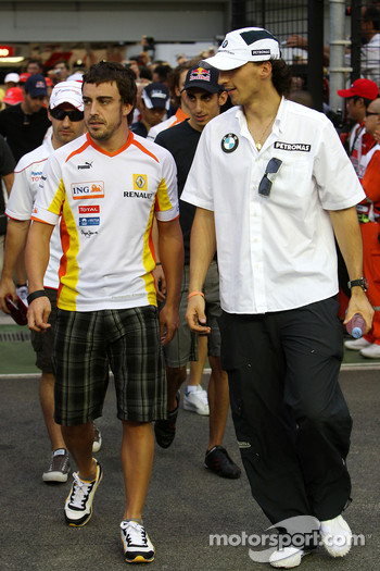 Fernando Alonso, Renault F1 Team, Robert Kubica, BMW Sauber F1 Team