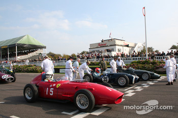 The Grid : Richard Attwood Ferrari 246 Dino,  Barrie Williams Ferguson -   Climax Project 99 , Gary Pearson Brm Type 25
