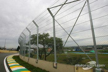 New fence inside last corner