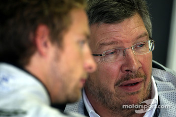 Jenson Button, BrawnGP, Ross Brawn Team Principal, Brawn GP