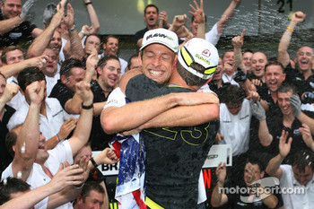 Jenson Button, Brawn GP and Rubens Barrichello, Brawn GP