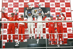 GT2 podium: class winners Marco Holzer and Richard Westbrook, second place Matteo Malucelli and Paolo Ruberti, third place Andrew Kirkaldy and Rob Bell